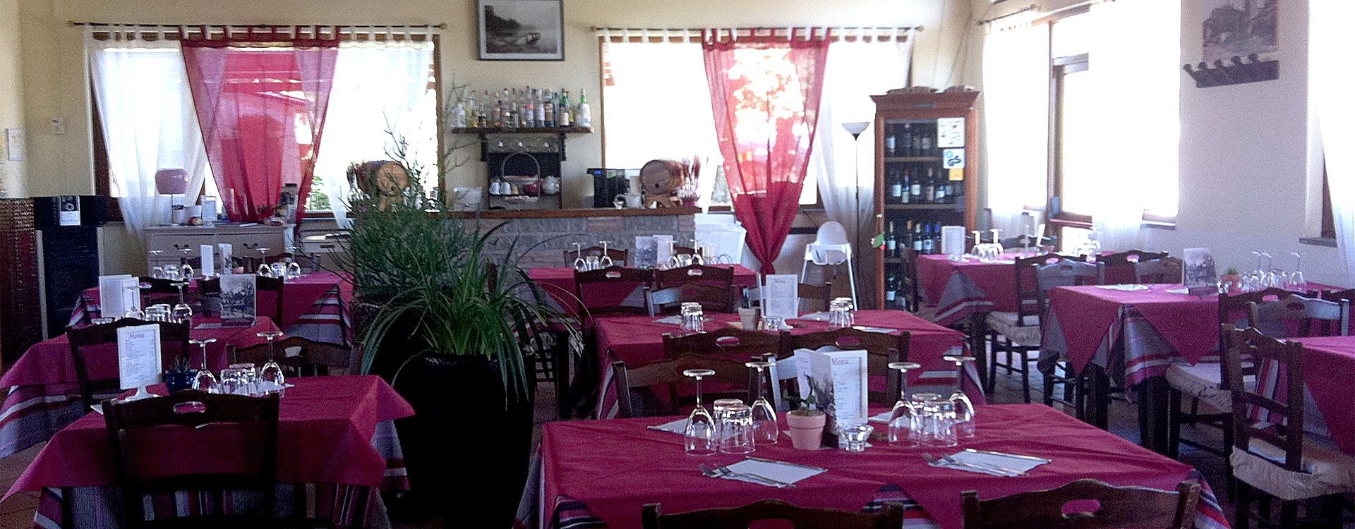 La Sala del ristorante Acquaranda